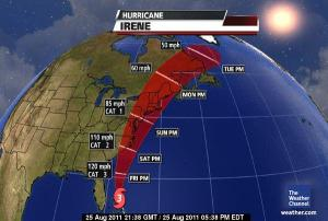 Hurricane Irene's Path