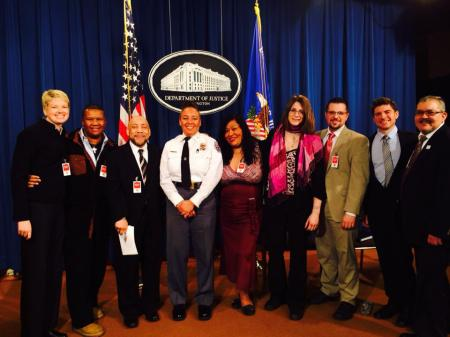 Advocates at the Dept. of Justice Unveiling of the Transgender Law Enforcement Training