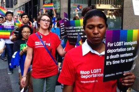 LGBT advocates protest deportations in New York, NY   Photo: Julieta Salgado